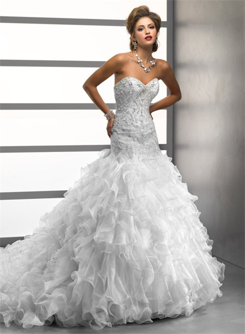 Mermaid Ruffles Wedding Dress