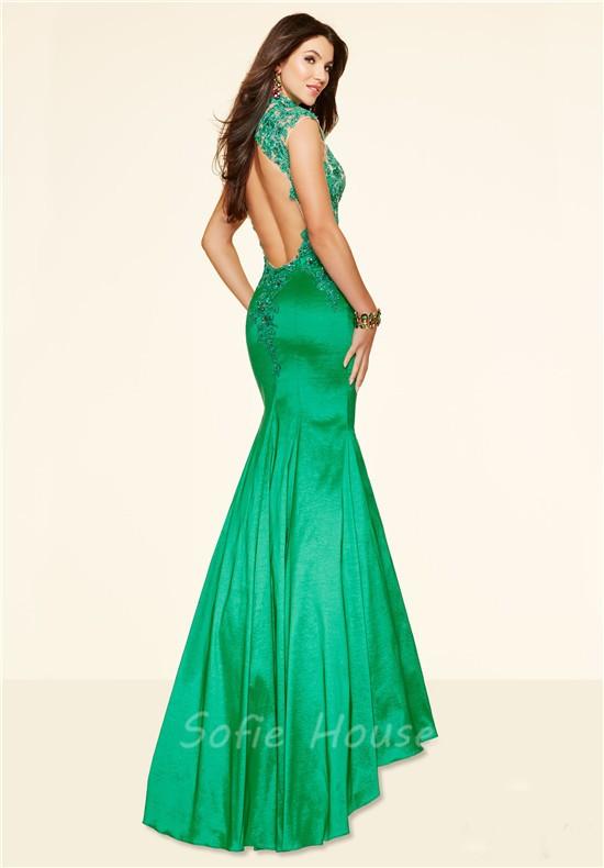 Taffeta Backless Dress