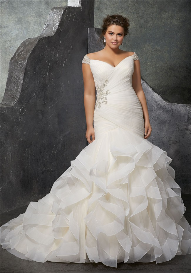 Awesome plus size corset wedding dresses photos styles for Free plus size wedding dress catalogs