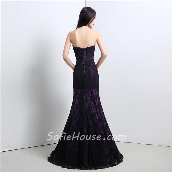 Black and purple corset dress