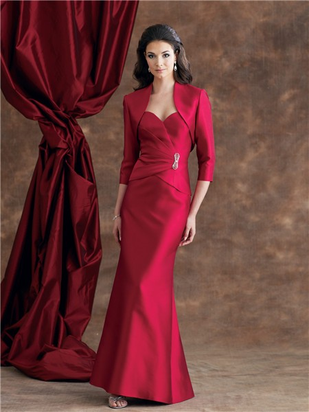 Mermaid sweetheart burgundy satin mother of the bride for Mama s fish house dress code