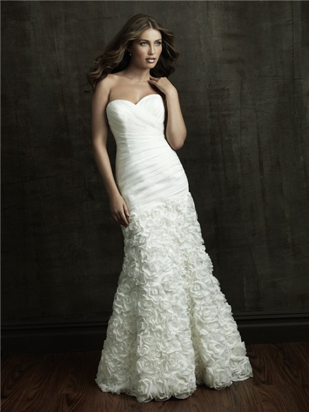 Mermaid sweetheart organza ruffle floral wedding dress for Bolero jacket for wedding dress