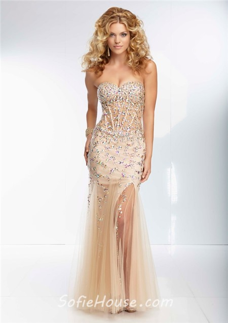 Mermaid sweetheart sheer see through corset bodice long for See through corset wedding dresses