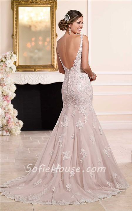 Ivory lace wedding dress for sale