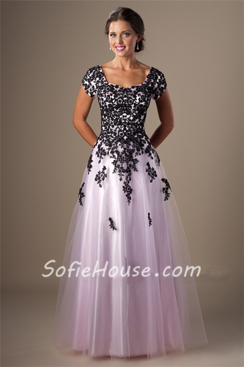 Black Pink Prom Dresses - Boutique Prom Dresses
