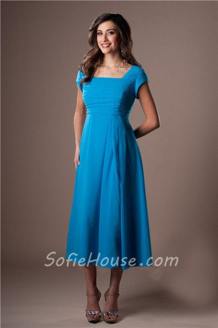 Tea Length Dress Sleeves