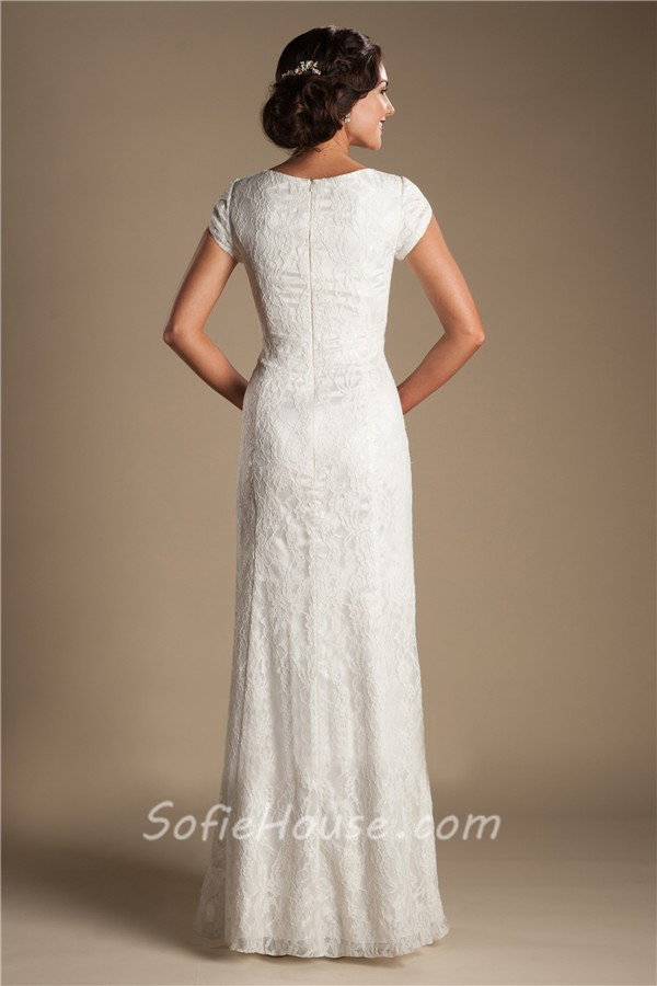 Short modest wedding dresses wedding dresses in jax for Short modest wedding dresses