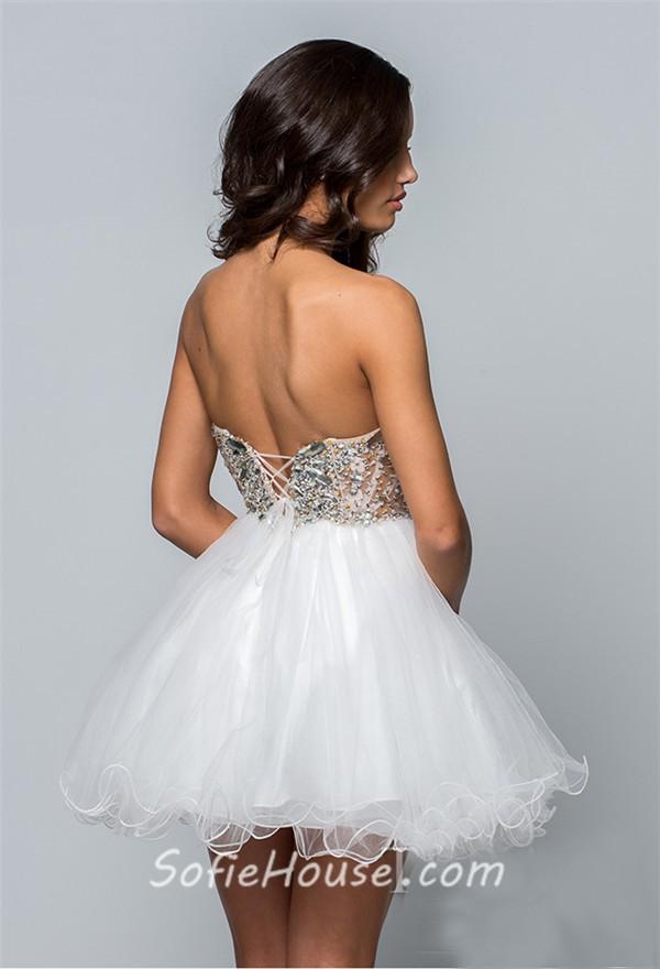 Short Puffy Prom Dress