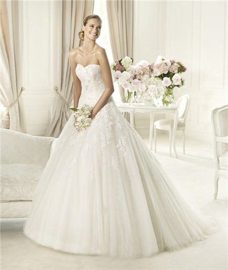 Romantic A Line Princess Sweetheart Tulle Lace Applique Wedding DressA Line Princess Sweetheart Tulle Lace Applique Wedding Dress. A Line Princess Wedding Dresses. Home Design Ideas