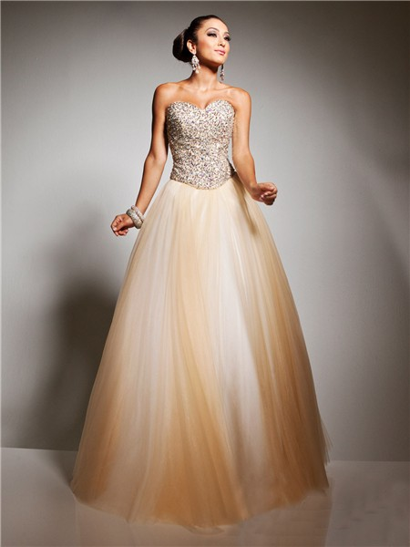 Beaded Prom Dresses with Tulle
