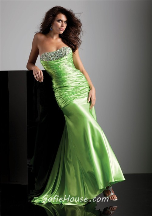 Silk long sheath formal dresses