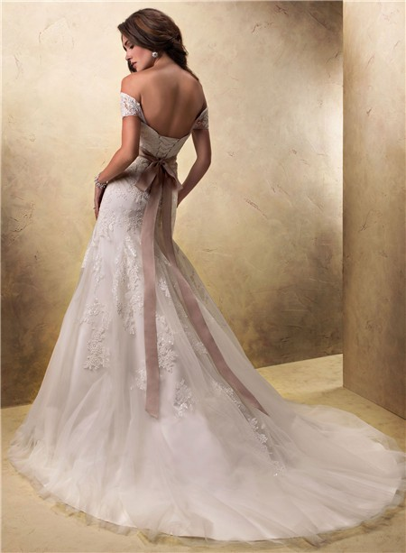 Sexy A Line Off The Shoulder Lace Wedding Dress With ...