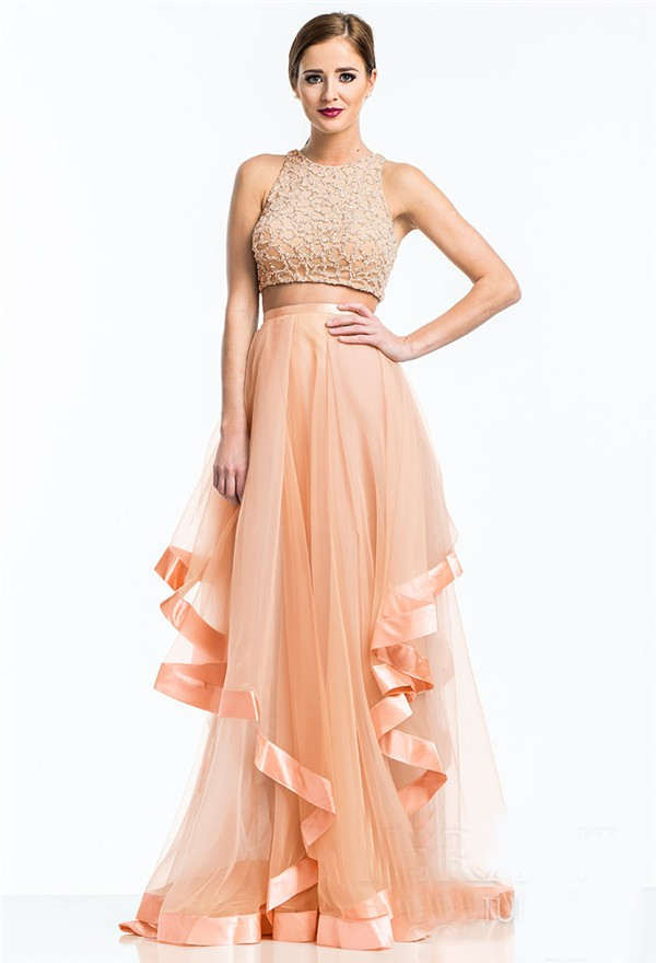 a2f885b29b Peach Long Prom Dresses – Fashion dresses