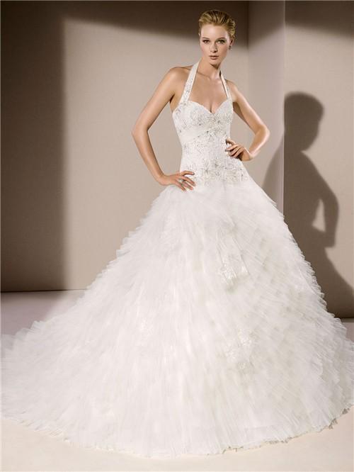Halter Wedding Dresses With Low Back 53
