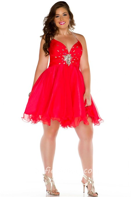 Short Red Plus Size Dresses