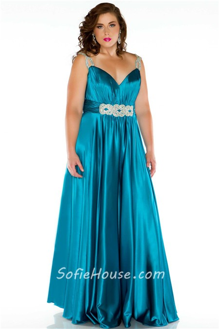 Sexy Long Purple Glitter Silk Plus Size Evening Prom Dress With
