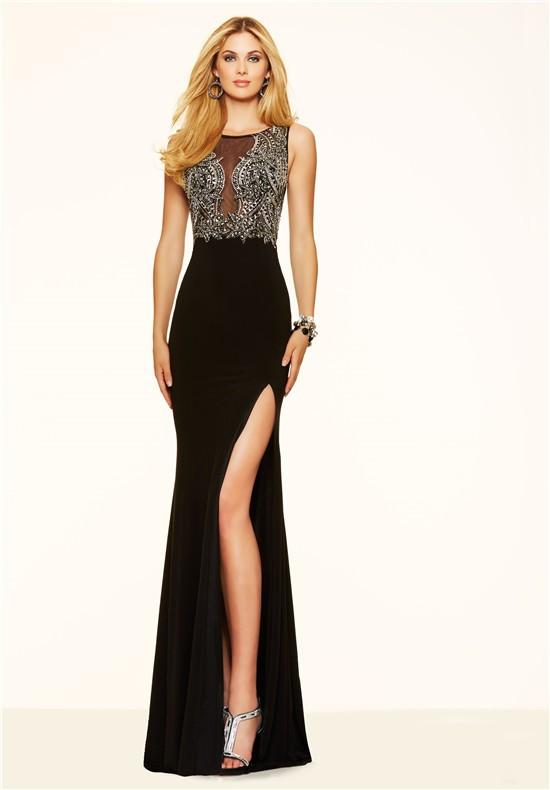 Black Chiffon Mermaid Dress
