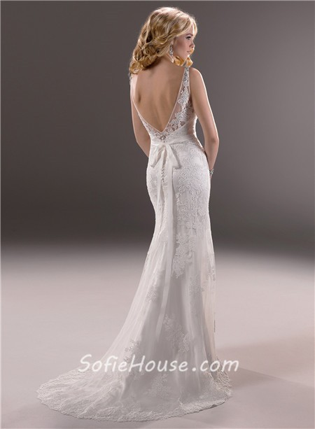 Low Back Sexy Wedding Dress - Missy Dress