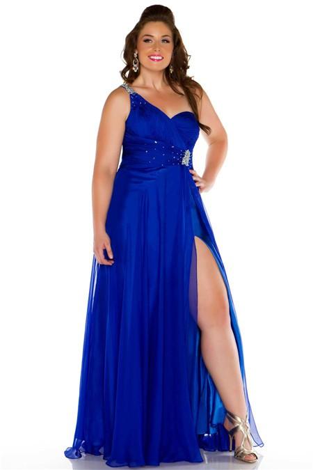Plus Size Royal Blue Dress