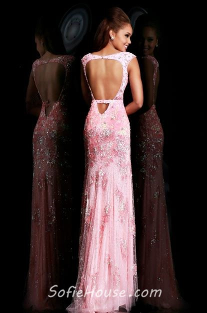 7c6d8bc466 Sexy Sheath Cap Sleeve Backless High Low Long Pink Tulle Lace Prom Dress  Cut Out