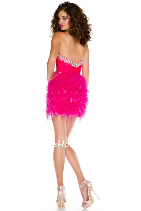 Pink Feather Dress
