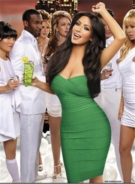Sexy Sweetheart Short Mini Emerald Green Kim Kardashian Bandage