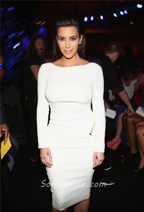 Short White Jersey Dress