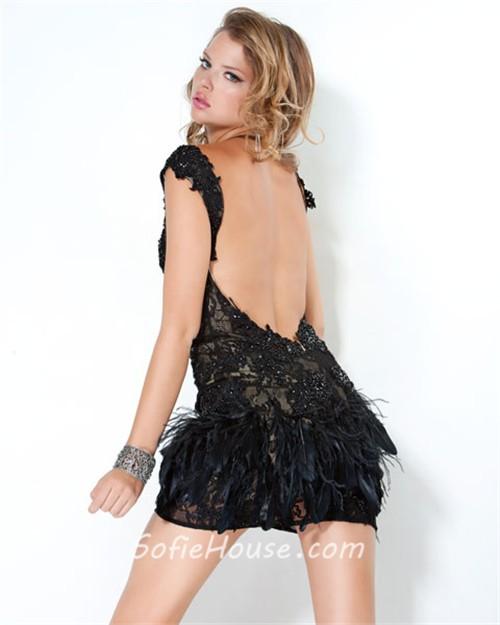 Short Backless Cocktail Dress