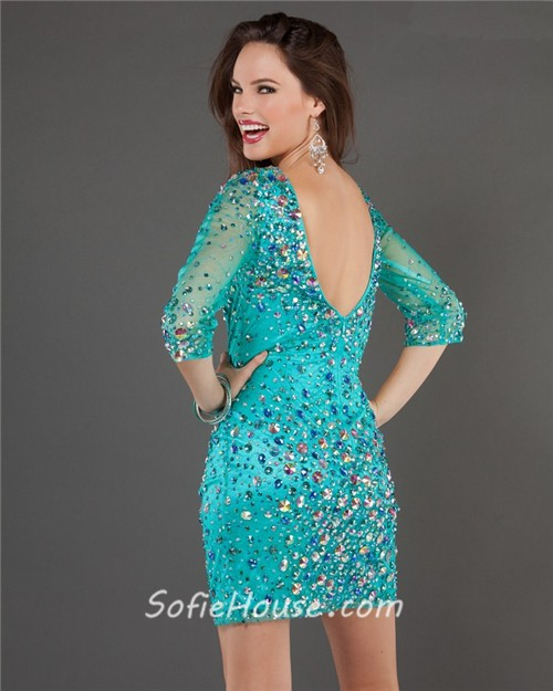 Turquoise Party Dresses - Ocodea.com
