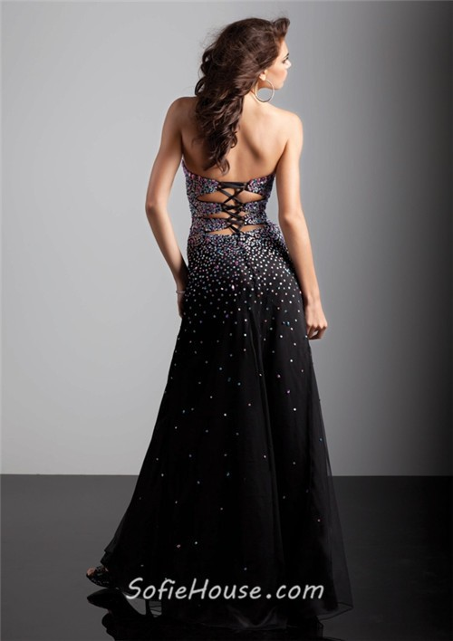 Corset Back Prom Dresses - Holiday Dresses
