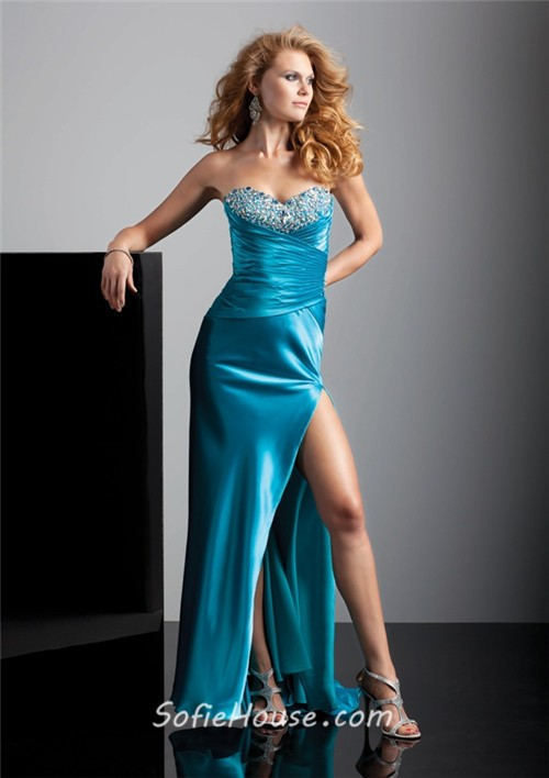 Aqua prom dresses