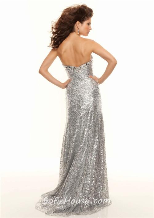Silver Full Length Dress