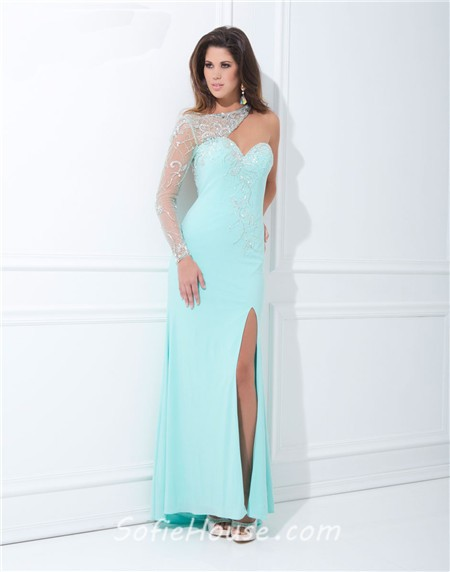 Pink Chiffon Asymmetrical Dress