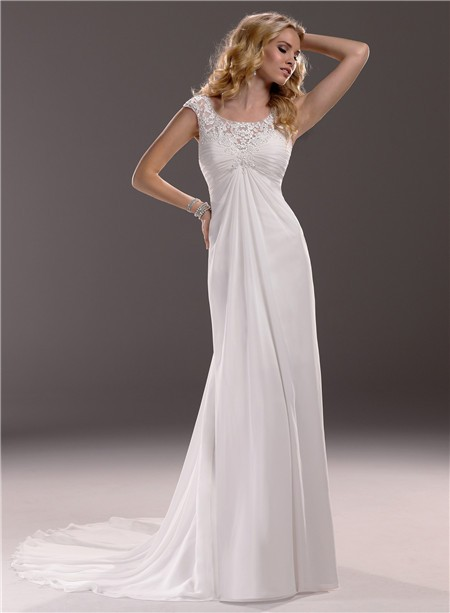 Maternity Wedding Dresses Cap Sleeves