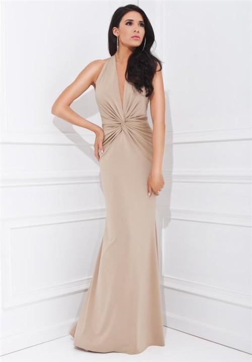 champagne chiffon dresses