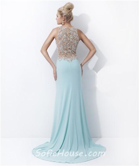 Mermaid Dress with Sheer Back