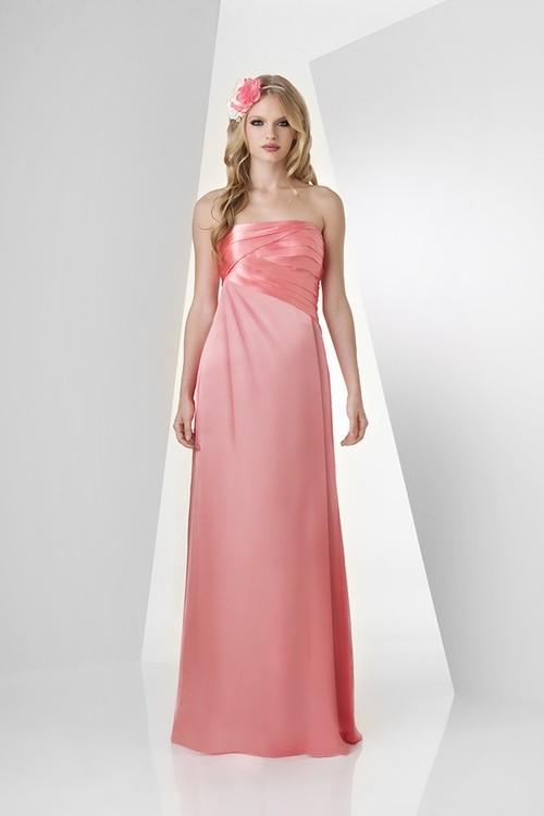 Sheath strapless long tulip satin chiffon ruched wedding for Tulip wedding dress style