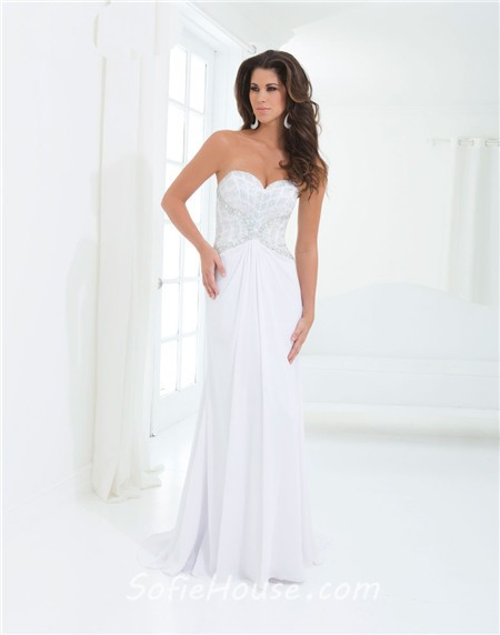 Sheath strapless sweetheart draped long royal blue chiffon for Sheath wedding dress with beading and side drape