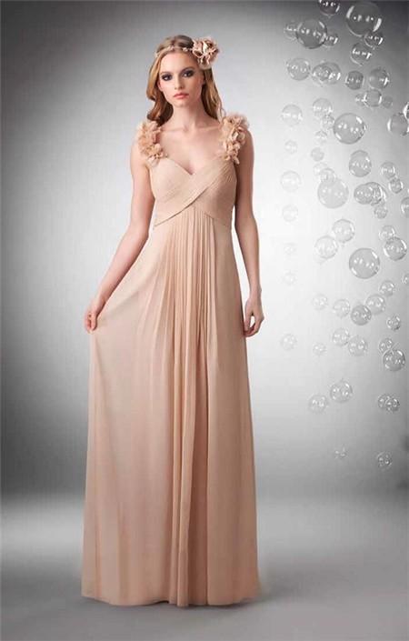 Chiffon Empire Gown