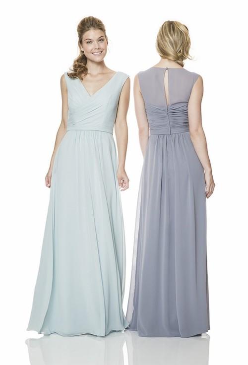 pale blue chiffon gown
