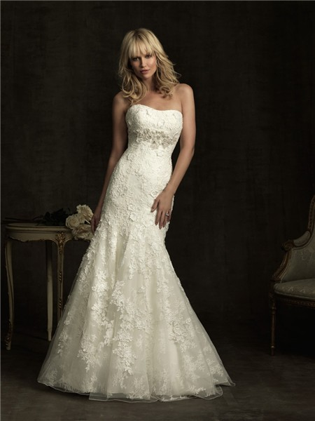 Fitted Waist Wedding Dress