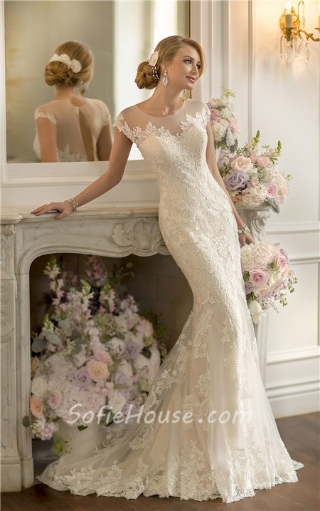 Keyhole Back Lace Wedding Dress Sale