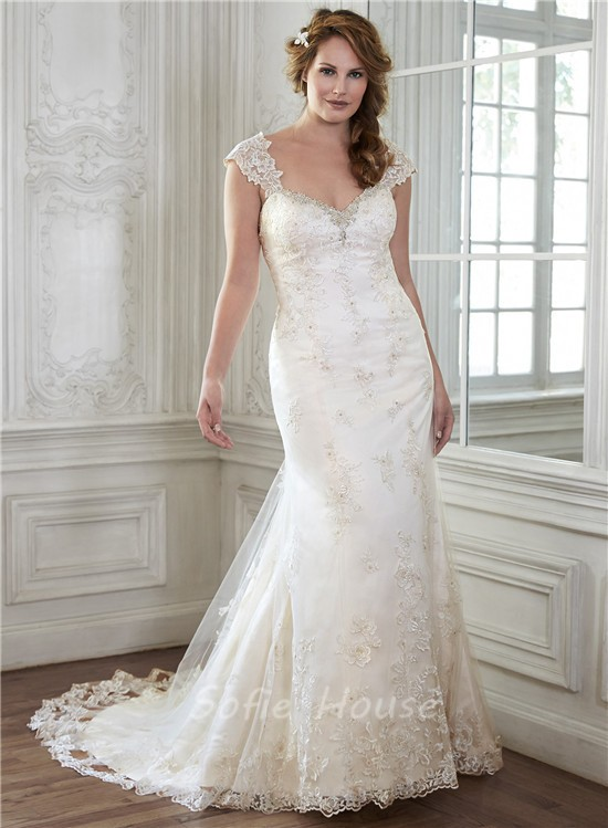 Stunning Mermaid Sweetheart Vintage Lace Wedding Dress With ...