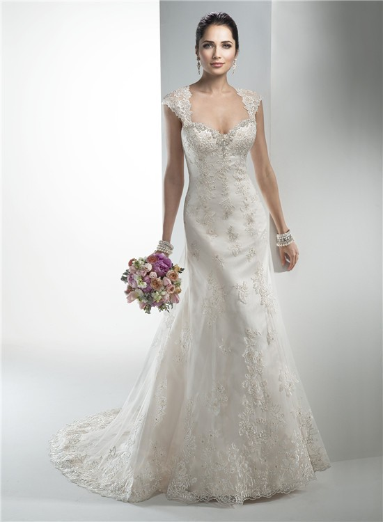 stunning mermaid sweetheart vintage lace wedding dress with detachable cap sleeves