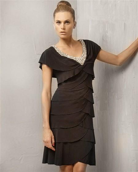 Tiered Cocktail Dress - Ocodea.com