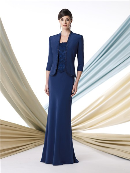 Piece Suit Royal Blue Chiffon Mother Of The Bride Formal Occasion ...