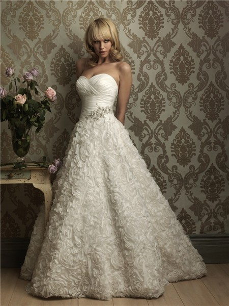 Unique Ball Gown Sweetheart Floral Wedding Dress With ...