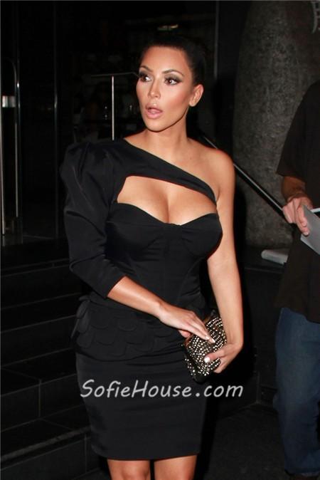 style black dress one sleeve