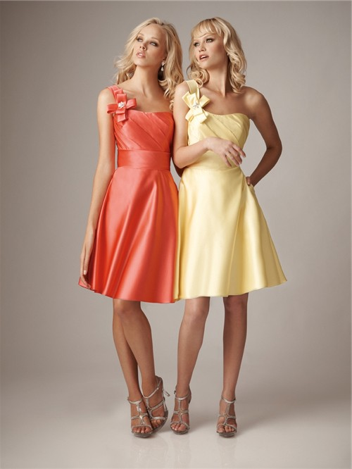 Short Yellow Satin Dress Dress Ideas