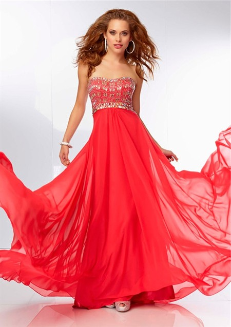 60d70f9d7f8 ... Flowing Sweetheart Neckline Long Turquoise Chiffon Beaded Prom Dress  Cut Out Back ...